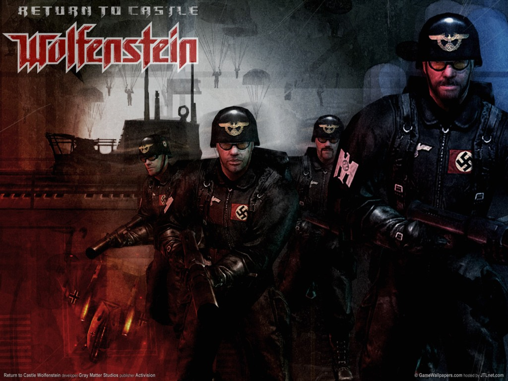 An iconic composite featuring the Norway level from Return to Castle Wolfenstein.