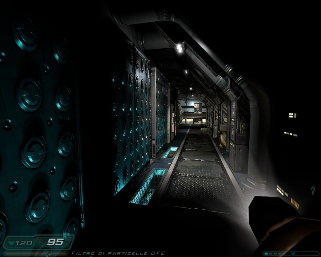 Doom 3 with Hi-Definition textures still makes a nice impression to this day.
