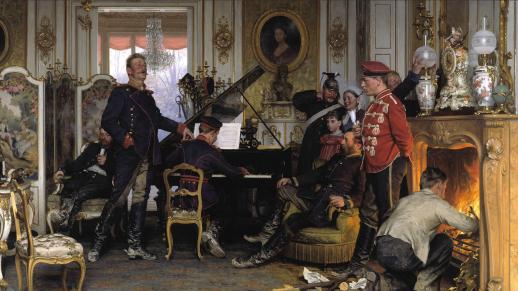 Anton-von-Werner-Im-Etappenquartier-vor-Paris