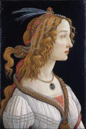 Sandro-Botticelli-Portrait-of-Simonetta-Vespucci as Nymph