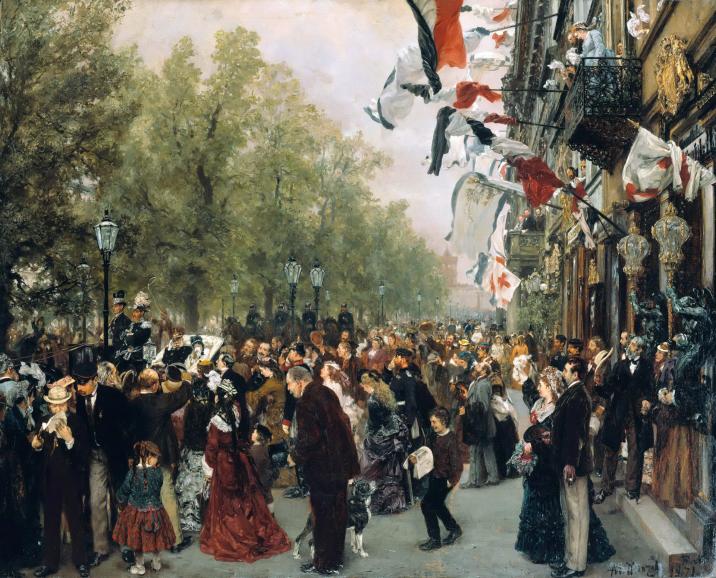 Adolph Menzel - William I Departs for the Front on July 31, 1870-1871