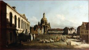 Bernardo Bellotto - Neumarkt im Dresden-1747