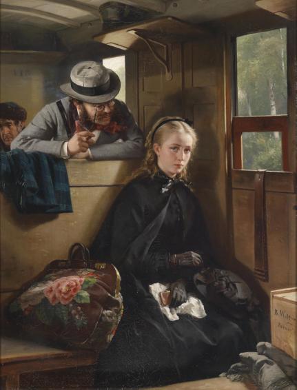 Berthold Woltze - The Irritating Gentleman-1874