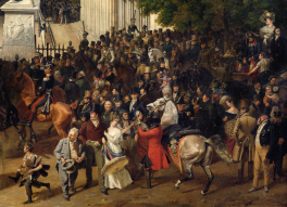 Franz Krüger - Parade on the Opernplatz in Berlin 1824-30