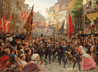 Otto Bache - Danish Soldiers Return to Copenhagen-1849