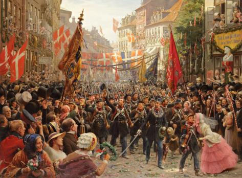 Otto Bache - Danish Soldiers Return to Copenhagen-1849