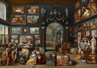 Willem van Haecht - Apelles Painting Campaspe-1630