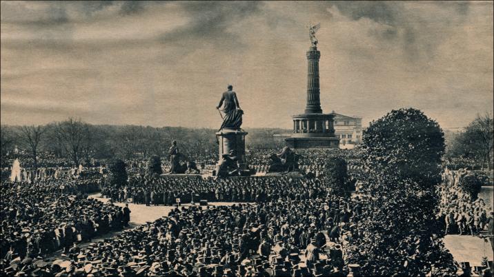 Die Bismarck-Jahrhundertfeuer des deutschen Volkes am 1. April 1915